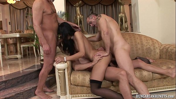 euro cousin butt poked by 3 guys in gangbang euro