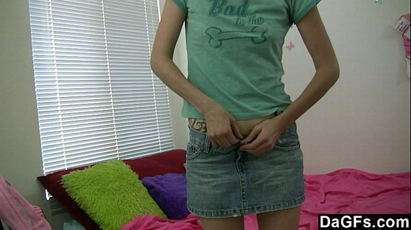 skinny baby masturbates during her parents are gone solo girl