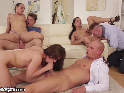 doghouse sexy euro orgy with anal and facials euro