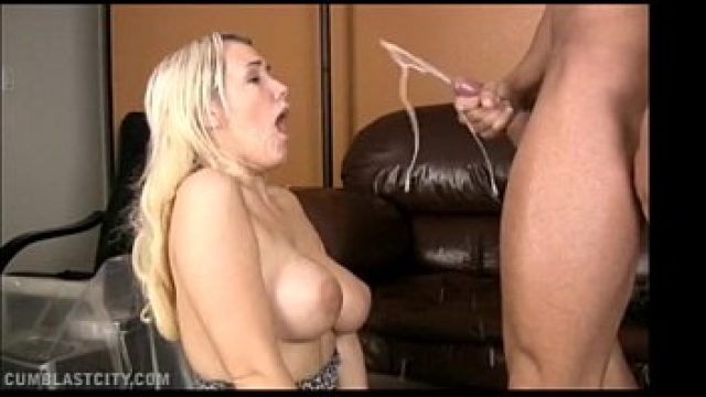 Big Tits tasteful blonde through giant breasts