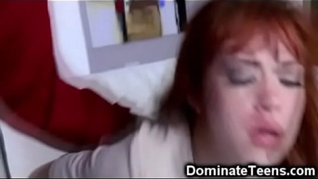 Young Slut young reddish hair punished and